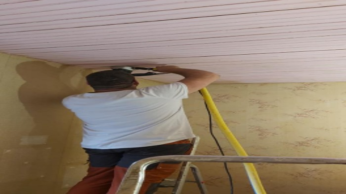 ponçage plafond à villorceau